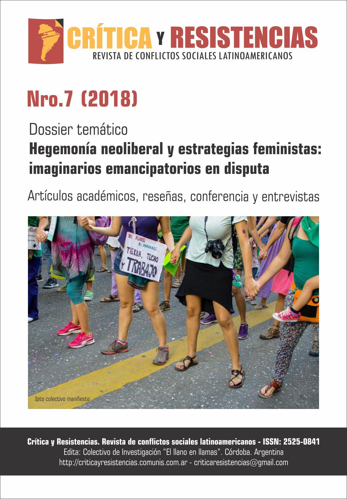 Portada de Revista Crítica y Resistencias Nº 7 (2018)