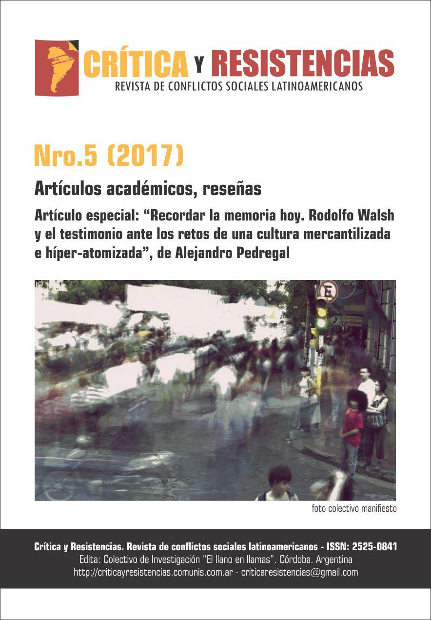 Portada de Revista Crítica y Resistencias Nº 5 (2017)